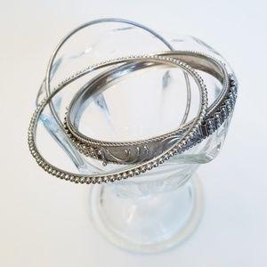 Jewelry - ☕ 3/$15 ☕ Silver Bracelet Set
